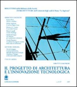 Il progetto di architettura e l'innovazione tecnologica