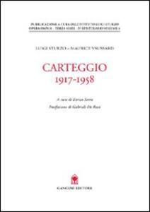Carteggio (1917-1958)
