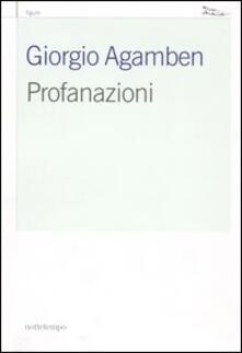 Profanazioni - Giorgio Agamben - copertina