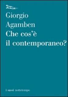 Che cos'è il contemporaneo? - Giorgio Agamben - copertina