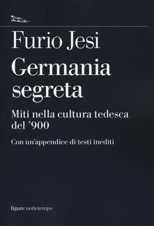 Germania segreta. Miti nella cultura tedesca del '900 - Furio Jesi - copertina