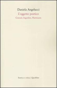 Osteriacasadimare.it L' oggetto poetico. Conrad, Ingarden, Hartmann Image