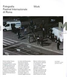 Work. Fotografia. Festival internazionale di Roma 11° edizione. Ediz. italiana e inglese - copertina