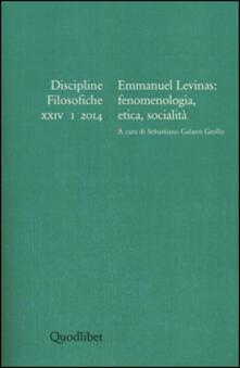 Antondemarirreguera.es Discipline filosofiche (2014). Ediz. multilingue. Vol. 1: Emmanuel Levinas. Fenomenologia, etica, socialità. Image