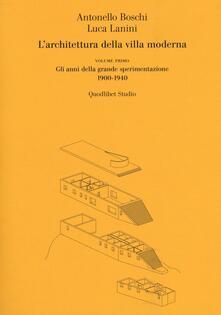 Fondazionesergioperlamusica.it L' architettura della villa moderna. Vol. 1: anni della grande sperimentazione 1900-1940, Gli. Image