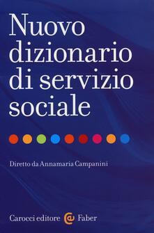 Nuovo dizionario di servizio sociale - copertina