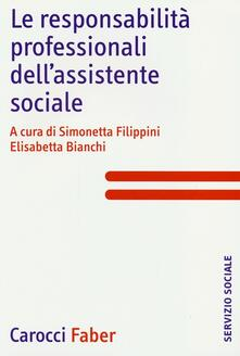 Le responsabilità professionali dell'assistente sociale - copertina