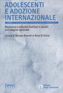 Lpgcsostenible.es Adolescenti e adozione internazionale. Benessere e relazioni familiari e sociali: un'indagine nazionale Image