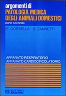 Camfeed.it Patologia medica degli animali domestici. Apparato respiratorio e cardiocircolatorio Image