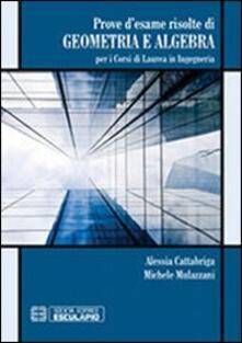 Lpgcsostenible.es Prove d'esame risolte di geometria ad algebra. Per i corsi di Laurea in ingegneria Image