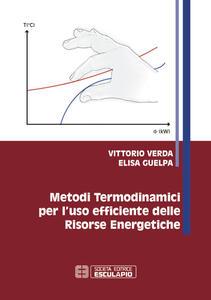Metodi termodinamici per l'uso efficiente delle risorse energetiche - Vittorio Verda,Elisa Guelpa - copertina