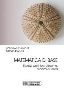 Matematica di base. Esercizi svolti, testi d'esame, richiami di teoria - Anna Maria Bigatti,Grazia Tamone - copertina