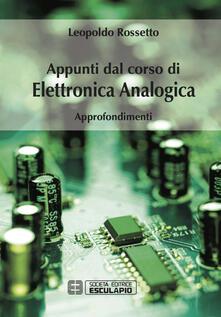 Ristorantezintonio.it Appunti dal corso di elettronica analogica. Approfondimenti Image