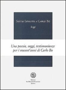 Sestri Levante. A Carlo Bo - copertina