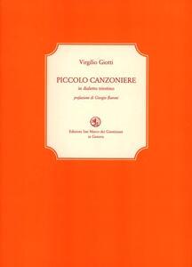Piccolo canzoniere in dialetto triestino. Testo italiano a fronte - Virgilio Giotti - copertina