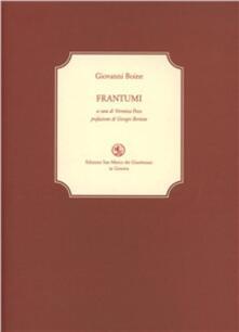 Frantumi - Giovanni Boine - copertina
