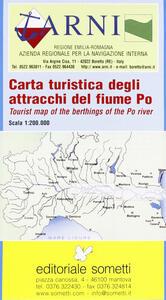 Carta turistica degli attracchi del fiume Po