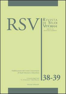 Filippodegasperi.it RSV. Rivista di studi vittoriani vol. 38-39. Ediz. inglese Image