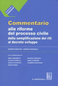 Commentario alle riforme del processo civile dalla semplificazione dei riti al decreto sviluppo