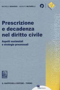 Prescrizione e decadenza nel diritto civile. Aspetti sostanziali e strategie processuali