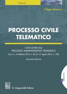 Aboutschuster.de Processo civile telematico. Con cenni sul processo amministrativo telematico. Con Contenuto digitale per download e accesso on line Image
