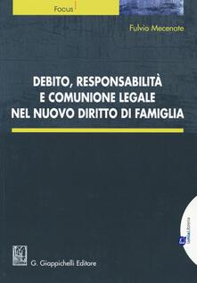 Radiospeed.it Debito, responsabilità e comunione legale nel nuovo diritto di famiglia. Con aggiornamento online Image