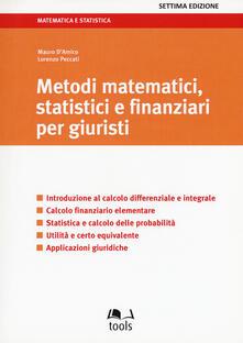 Steamcon.it Metodi matematici, statistici e finanziari per giuristi Image