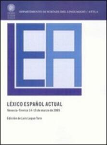 Léxico español. Actual