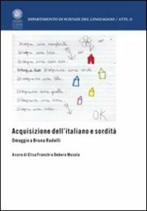 Acquisizione dell'italiano e sordità. Omaggio a Bruna Radelli