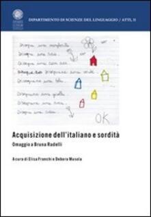 Fondazionesergioperlamusica.it Acquisizione dell'italiano e sordità. Omaggio a Bruna Radelli Image