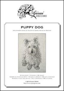 Puppy dog. A blackwork design