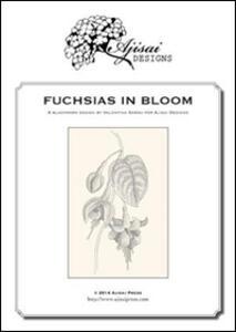 Fuchsias in bloom. A blackwork design