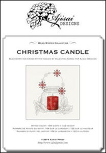 Christmas candle. Cross stitch and blackwork design