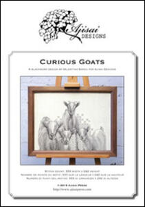Curious goats. Blackwork design. Ediz. italiana, francese e inglese