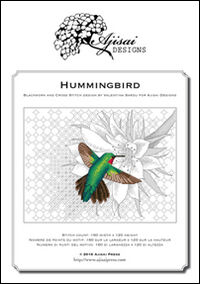 Hummingbird. Cross stitch and blackwork design. Ediz. italiana, inglese e francese