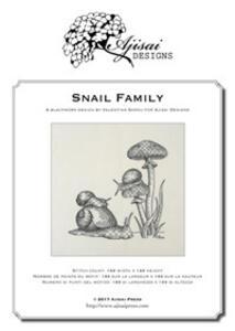 Snail family. Blackwork design