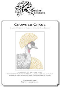 Crowned crane. Blackwork design