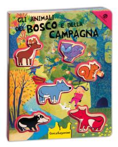 Gli animali del bosco e della campagna. Giocasagomine. Con gadget