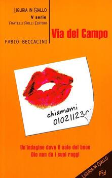 Via del Campo - Fabio Beccacini - copertina