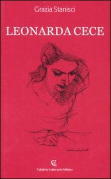 Leonarda Cece (1681-1716) - Grazia Stanisci - copertina