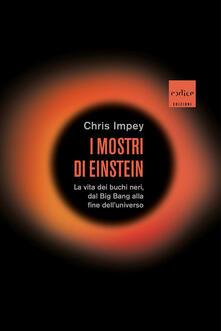 I mostri di Einstein. La vita dei buchi neri, dal Big Bang alla fine dell'universo - Chris Impey - copertina