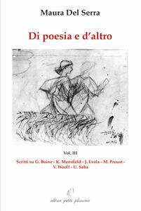 Di poesia e d'altro. Vol. 3