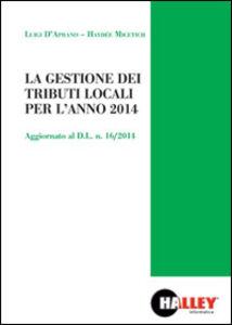 La gestione dei tributi locali per l'anno 2014