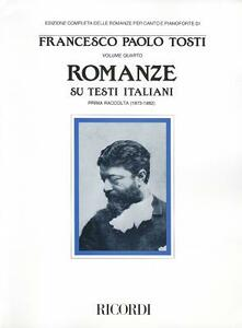 Romanze su testi italiani (1873-1882) - Francesco P. Tosti - copertina
