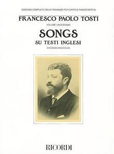 Songs su testi inglesi. 2ª raccolta