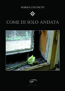 Come di solo andata - Marisa Cecchetti - copertina