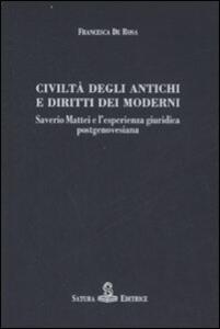 Civiltà degli antichi e diritti dei moderni. Saverio Mattei e l'esperienza giuridica postgenovesiana