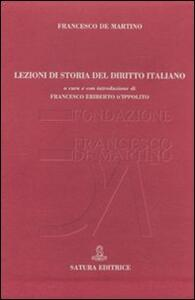 Lezioni di storia del diritto italiano - copertina