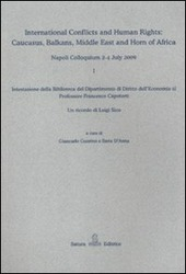 International conflicts and human rights: Caucasus, Balkans, Middle East and Horn of Africa (Napoli Colloquium, 2-4 July 2009)