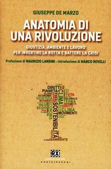 Anatomia di una rivoluzione. Giustizia, ambiente e lavoro per invertire la rotta e battere la crisi - Giuseppe De Marzo - copertina